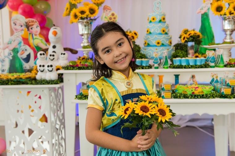 festa de menina, festa de criança, fotos de festa, festa infantil, Buffet Vila das Flores, Frozen Fever, Santos, São Vicente, Praia Grande